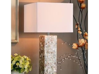 Strick   Bolton Brice Mother of Pearl Finish 30 inch Table lamp