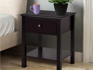 Porch   Den Moda Espresso Finish 1 drawer Nightstand