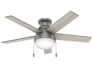 Hunter 46  Anslee Ceiling Fan with light Kit and Pull Chain