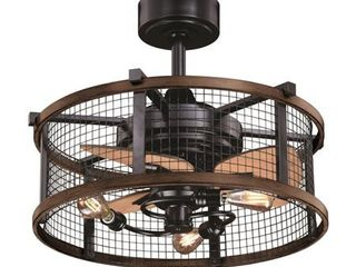 Vaxcel International Humboldt Ceiling Fan in Oil Rubbed Bronze  amp  Burnished Teak