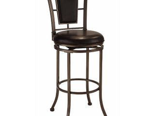 Hillsdale Auckland Swivel Counter Stool   Black Faux leather