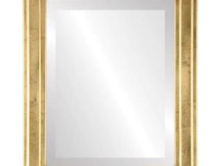Wright Framed Rectangle Mirror   Gold leaf  19x23   SlIGHT DAMAGE