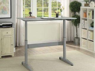 Furniture of America Glidene Modern 59 inch Metal lift Computer Table   Grey