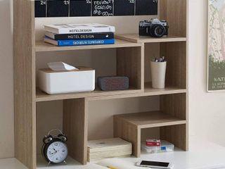 Yak About It Compact Adjustable Dorm Desk Bookshelf   Black