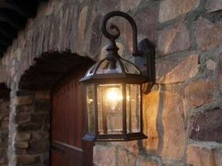 AA Warehousing Adalyn Outdoor Wall Mounted light   Black