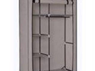 Portable Closet Storage Organizer Wardrobe Clothes Rack w  Shelves