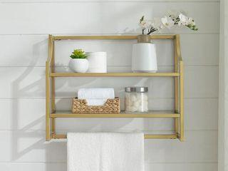 Aimee Wall Shelf Gold   Crosley
