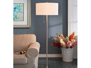 Kenroy Home Stowe Floor lamp  Brushed Steel
