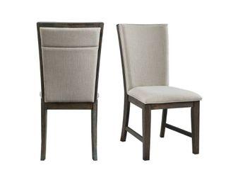 Jasper Upholstered Side Chair Set   Toasted Walnut