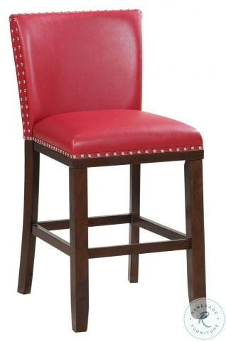 Tiffany Red Kd Counter Height Stool Set Of 2