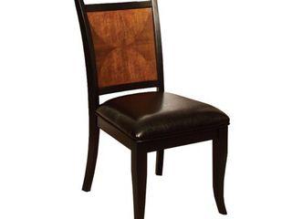 Salida I Transitional Side Chair  Black   Antique Oak Finish  Set of 2