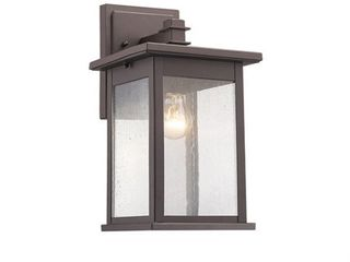 CHlOE lighting TRISTAN Transitional 1 light Rubbed Bronze Outdoor Wall Sconce 12  Height