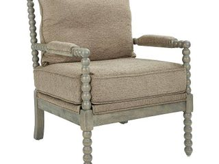 Ave Six Abbot Chair in Dolphin Fabric with Brushed Grey Base