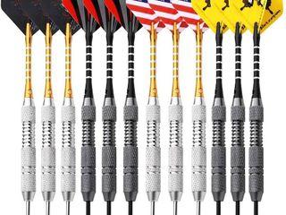 Rose Kuli Darts Steel Tip Set   Professional 24 Grams Darts Brass Barrels Aluminum Shaft and Case Darts Flights
