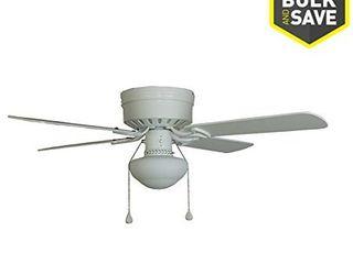 Harbor Breeze Armitage 42 in White Flush Mount Indoor Ceiling Fan with light Kit  4 Blade  MISSING 1 FAN BlADE BRACKET