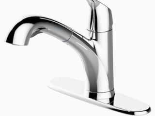 Project Source Pull out Kitchen Faucet 1255144 Chrome Finish