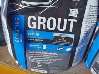 Tec Sanded Grout Raven 10 lb bag
