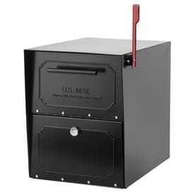 Architectural Mailboxes 620020 Black Oasis Tribolt Post Mount locking Mailbox