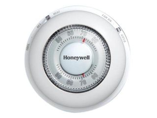 Honeywell The Round Non Programmable Manual Thermostat  Heating and Cooling  CT87N1001 E1