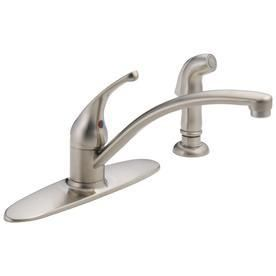 DElTA FAUCET CO 10901lF SS Stainless Steel 1Hand Kitchen Faucet