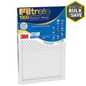 Filtrete Maximum Allergen Reduction Electrostatic Pleated Air Filter  Common  24 in x 30 in x 1 in  Actual  23 7 in x 29 7 in x 1 in  set its 2