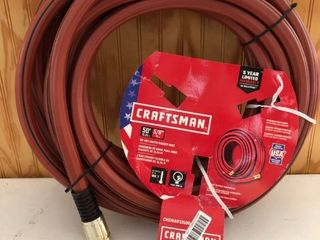 Craftsman Craftsman 5 8 in X 50 ft Premium duty Rubber Red Hose