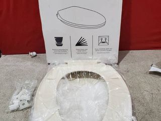 American Standard Mightytuff Bone Elongated Slow close Toilet Seat MISSING 1 CONE WASHER