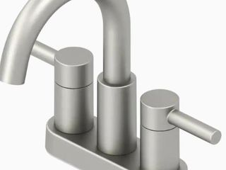 Jacuzzi Duncan Brushed Nickel Pvd 2 handle 4  Commercial Bathroom Faucet