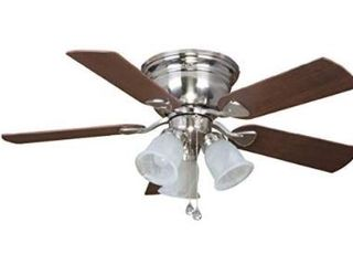 Harbor Breeze 42 inch Dark Brown and Silver Ceiling Fan