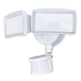 Utilitech Pro 180 Degree 2 Head White lED Motion Activated Flood light with Timer