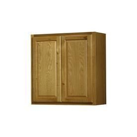 Kitchen Classics Portland 30 in x 30 in x 12 in Oak Portland Double Door Kitchen Wall Cabinet Damage on Front Scratches On Doors