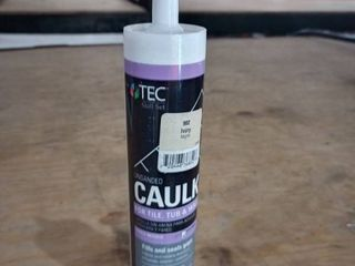 Tec Unsanded Caulk 10 5 oz  Color Ivory