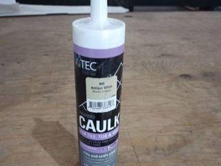 Tec Unsanded Caulk 10 5 oz  Color Antique White
