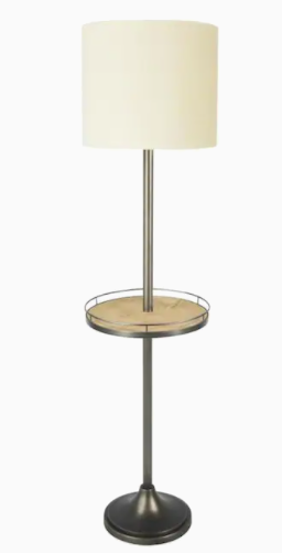 Allen and Roth Floor lamp with USB Table