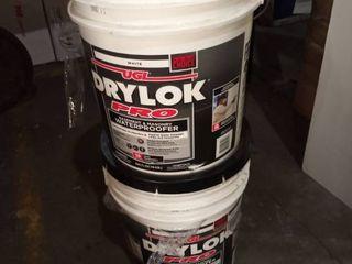 set of 2  White UGl Drylok Pro Paint