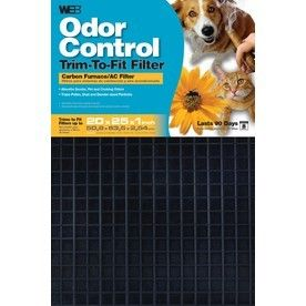 WEB Odor Control Adjustable Air Filter  Common  25 in x 20 in x 1 in  Actual  24 625 in x 19 625 in x 1 in