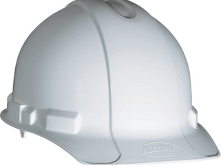 Non Vented Hard Hat with Pinlock Adjustment  White  1 Pack