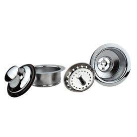 Keeney Mfg  Co  4 1 2 in dia Chrome Fixed Post Sink Strainer and Disposal Flange Combo