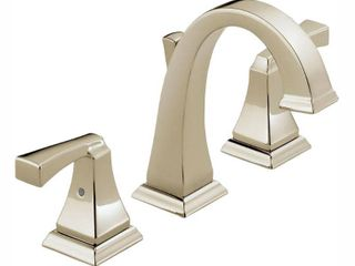 Delta Faucet 3551lF PN Dryden Two Handle Widespread lavatory Faucet  Polished Nickel