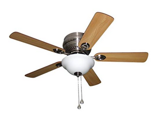 Harbor Breeze Mayfield 44 in Nickel led Indoor Flush Mount Ceiling Fan