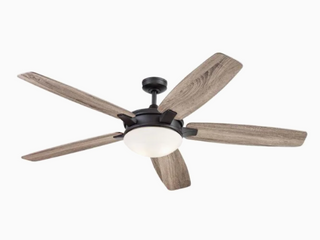 Harbor Breeze 70 in Matte Bronze Indoor Ceiling Fan With light Kit And Remote