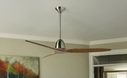 Fanimation Studio Collection Prop 60 in Brushed Nickel Indoor Ceiling Fan