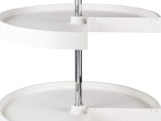 White Plastic and Metal lazy Susan