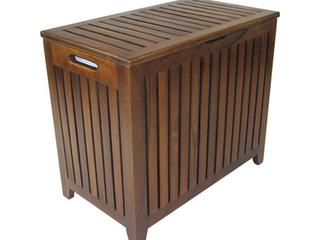 Wooden Bench Teak Hamper