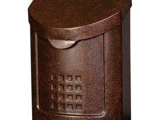Gibraltar lockhart Galvanized Steel Wall Mounted Copper lockable Mailbox 12 1 4 in  H x 11 1 8 in  W x 5 in  l