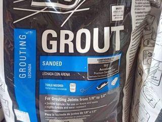 TEC SKIll SET Sanded Grout 10lbs  Bag Color Silverado