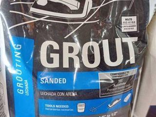 TEC SKIll SET Sanded Grout 10lbs  Bag Color Charcoal Gray