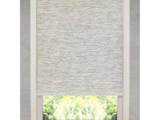 Natural Fiber Heather Grey Cordless Roller Shade  37 25 x72