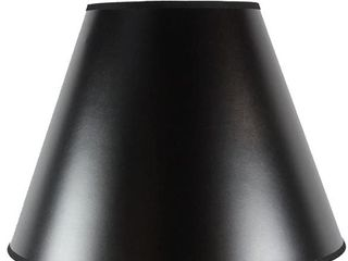 Bold Black with True Gold lining lamp Shade  8 x 16  x 12  Damaged