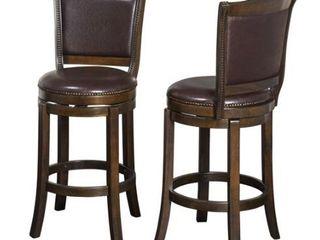 Simple living Adam Pub Stools Set of 2  Brown Retail 769 99